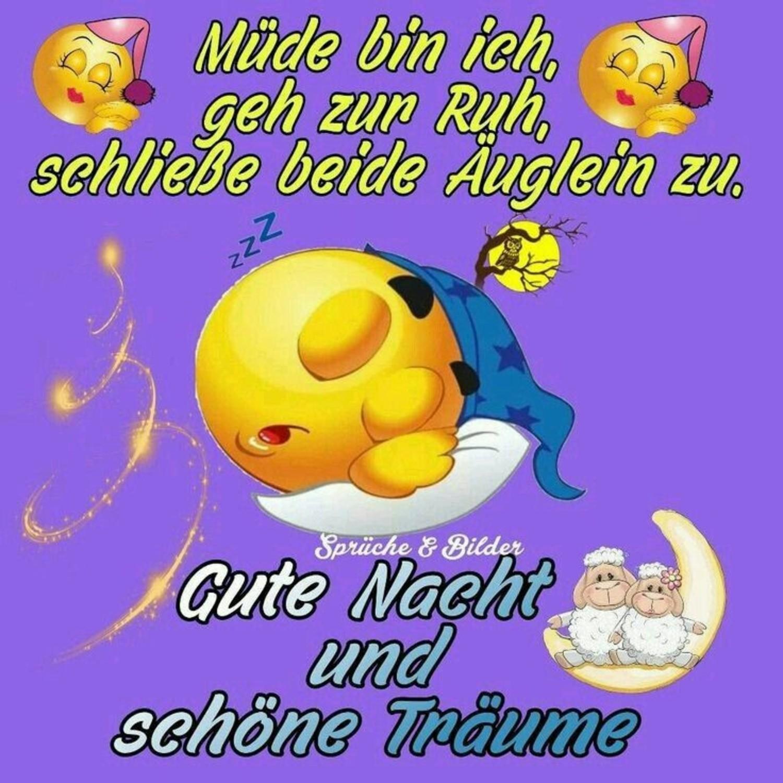 Nacht sprüche kurz süße gute Gute Nacht