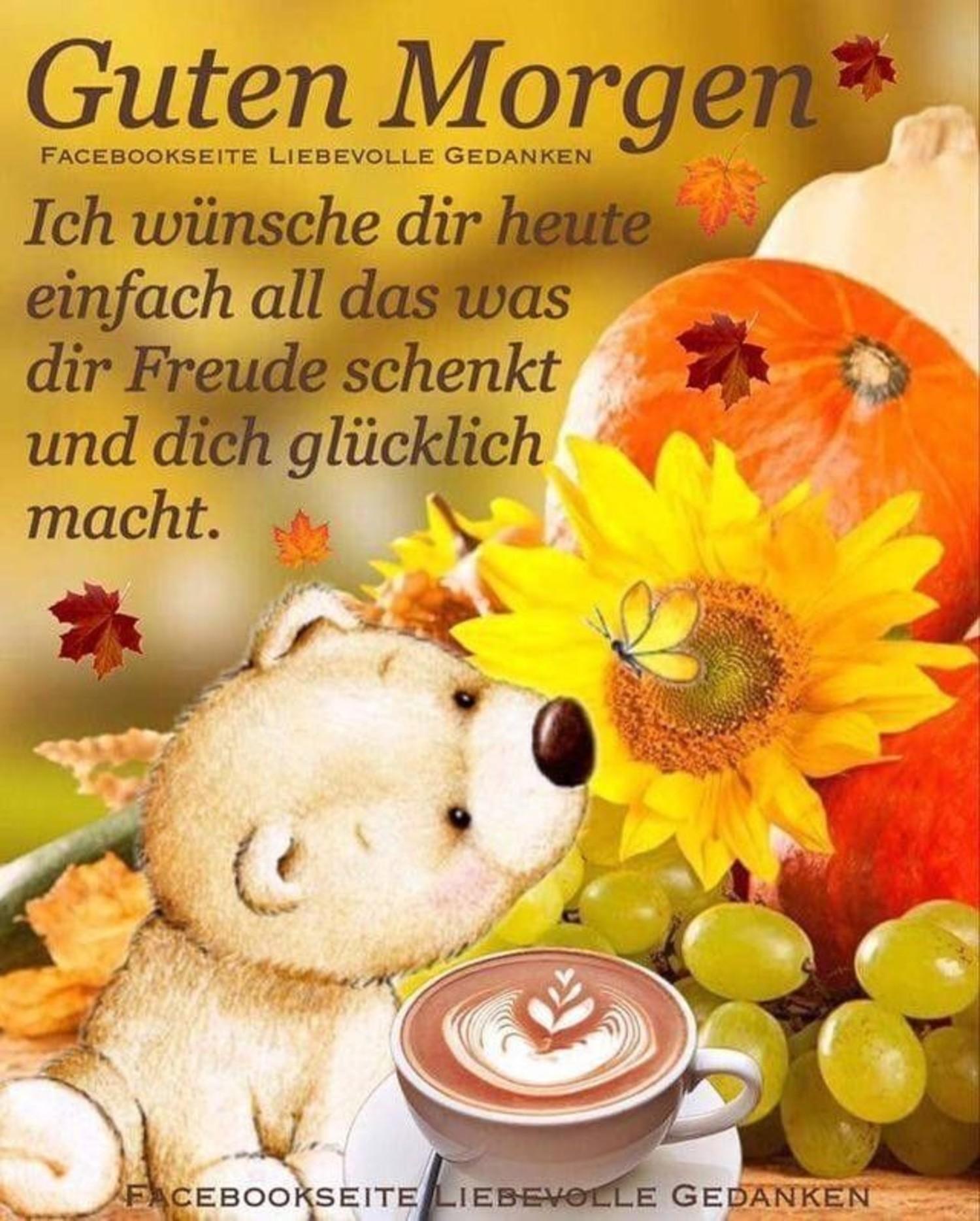 Guten Morgen Herbst 192 Gbpicsbildercom